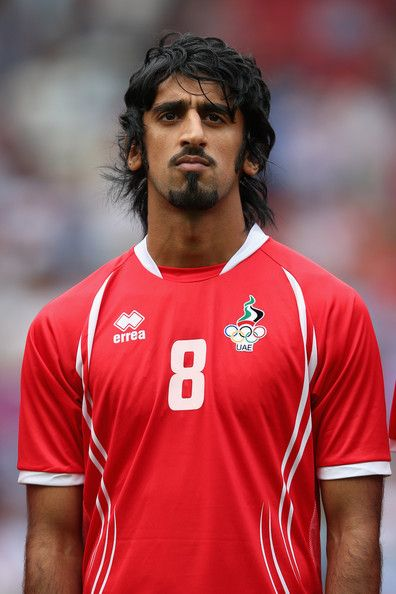 Hamdan Alkamali of the United Arab Emirates lines up before the Men's Football first round Group A Match of the London 2012 Olympic Games between UAE and Uruguay, at Old Trafford on July 26, 2012 in Manchester, England.