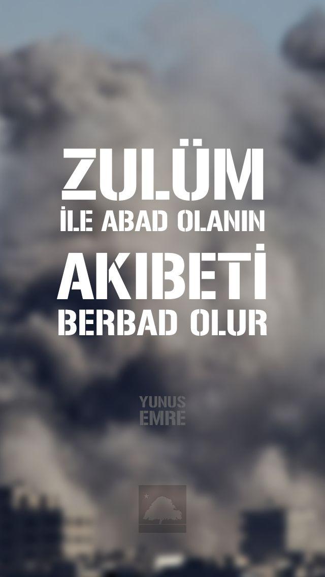 Yunus Emre : Zulüm ile abad olanın, akıbeti berbad olur. - Anadolu Çınarları poster