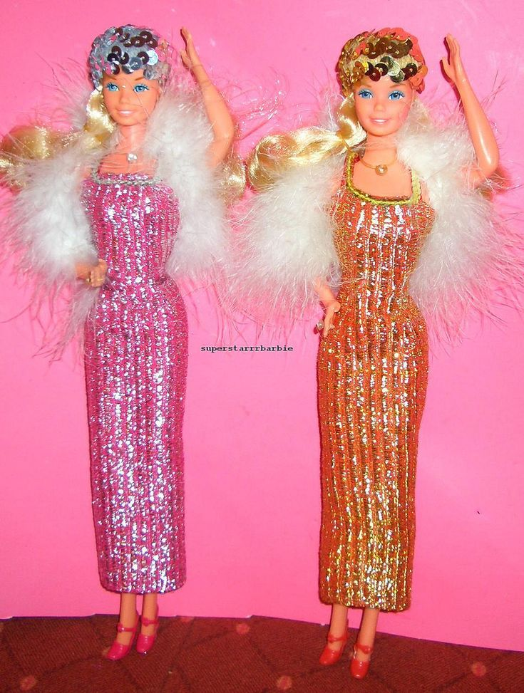 https://flic.kr/p/dkKEvT | superstar barbie promo prototype  sample rarest!! | sample  with  golden tinsel..golden  sequins.. redbrown dress.. IVE GOT NEW INFORMATION ABOUT THIS DOLL:  ..this is not a prototype but a prototype sample, 3 of these were made and the other 2 were destroyed!!!!