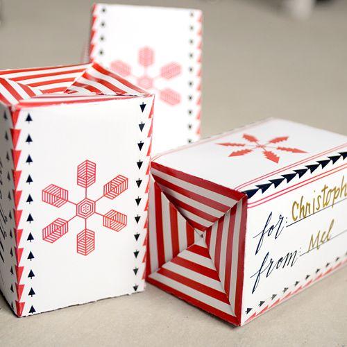 サイド折りたたみ型クリスマスキャンディーボックス/印刷できるテンプレート