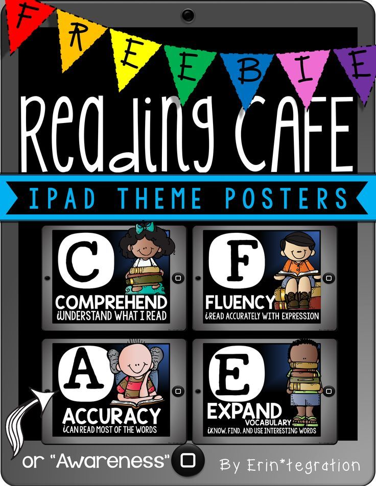 """FREE!! Tablet / iPad themed CAFE posters for the classroom....Follow for Free """"too-neat-not-to-keep"""" teaching tools & other fun stuff :)"""