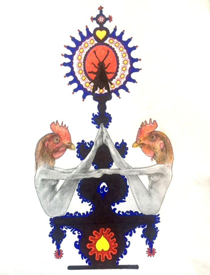 Cocks by Carlotta Carzaniga