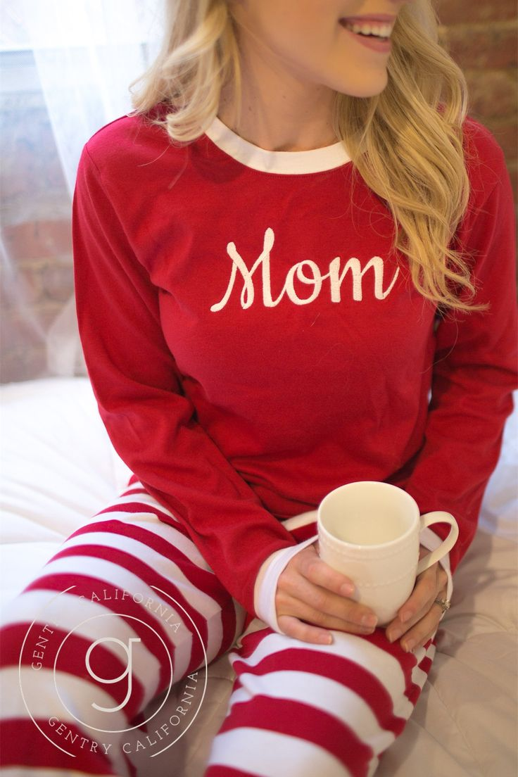 Christmas Pajamas - Adult With Monogram or Name | Gentry California | $48 | Click link to shop: http://www.gentrycalifornia.com/collections/christmas/products/preorder-adult-monogrammed-christmas-pajamas