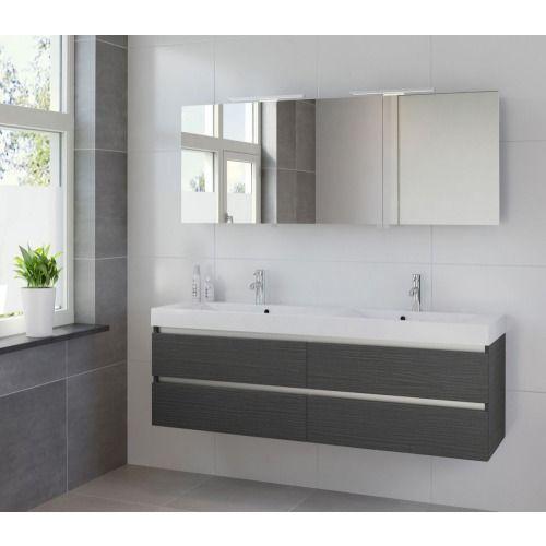Bruynzeel Palitano wastafelonderkast 160cm 4 laden voor dubbele wast hacienda - 230523 - Sanitairwinkel.be