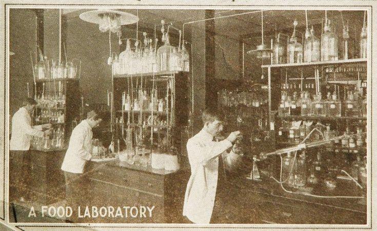 food laboratory at the Battle Creek Sanitarium