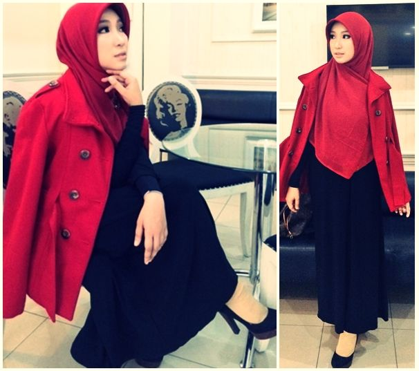 Indonesian Minister of Foreign Affairs 2034 formal #Shar'i style, #Hijab #muslimfashion