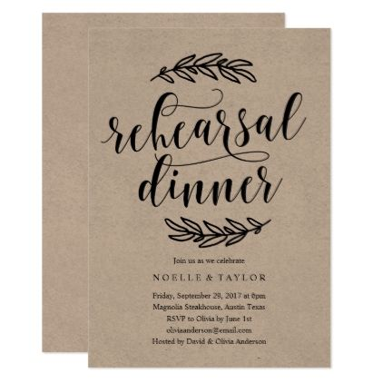 Best 25+ Rehearsal Dinner Invitations Ideas On Pinterest | Dinner