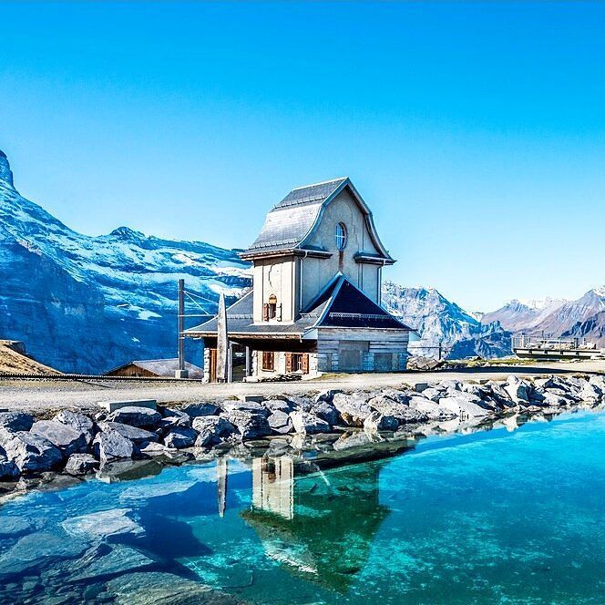 Crystal clear mountain lake above Grindelwald Switzerland. There is such beauty…