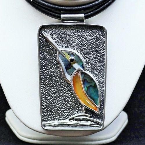 Naszyjnik srebrny Zimorodek
