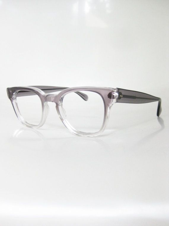 8e85bad5c8 Vintage Eyeglasses Frames Mens Gray Fade Horn Rim Glasses