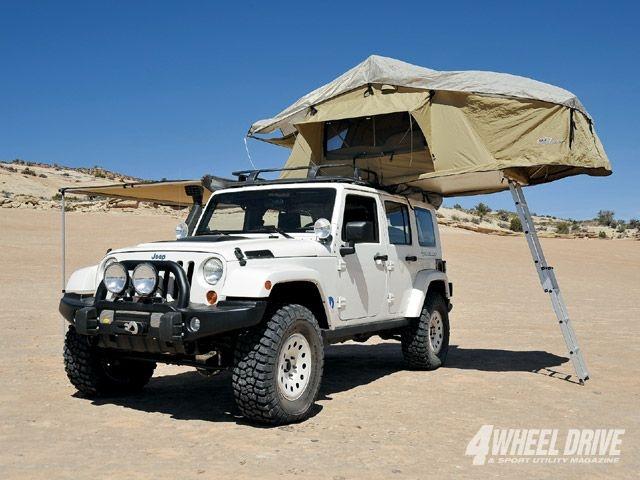Jeep JK Wrangler Unlimited Rubicon w/ overhead tent mod
