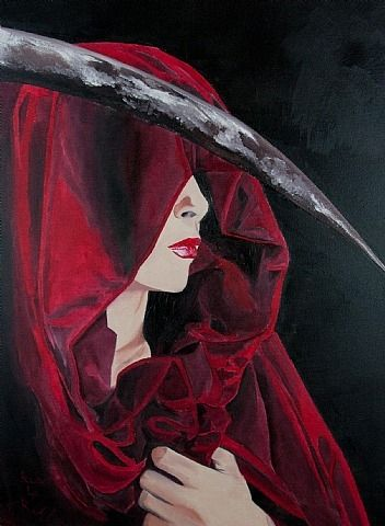 Bud LaRosa (American, b.1966)  - Scarlet Death - Painting  2012