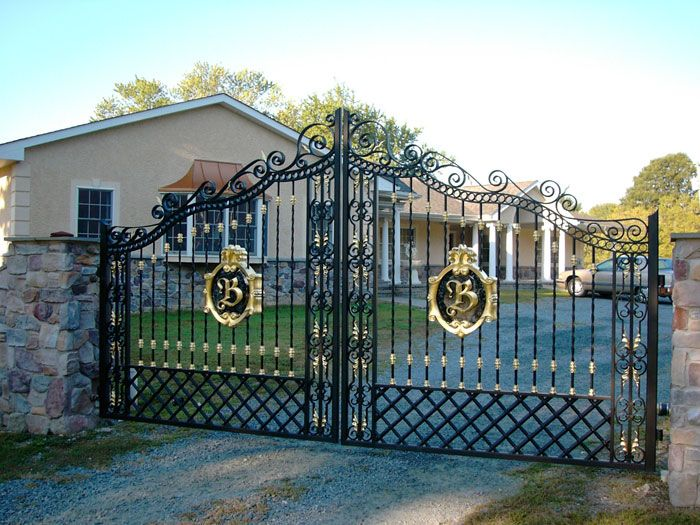 Custom Monogram Security Gate