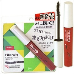 Fiberwig mascara from Japan.  The tiny little fibers attach to your eyelashes --who needs fake lashes?