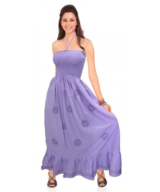 Solid Colors Sundress Casual Dress Maxi Long Full Length Cover UPS Tube Top  - Purple - 034a5d8d13af