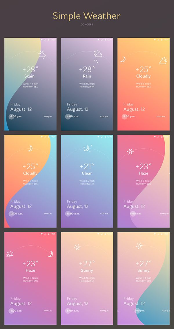 Simple Weather on Behance