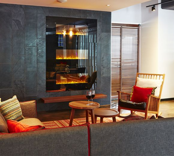 LEMAYMICHAUD | ALT | Halifax | Architecture | Design | Hospitality | Hotel | Lobby | Reception | Fireplace | Rocking Chair | Seating