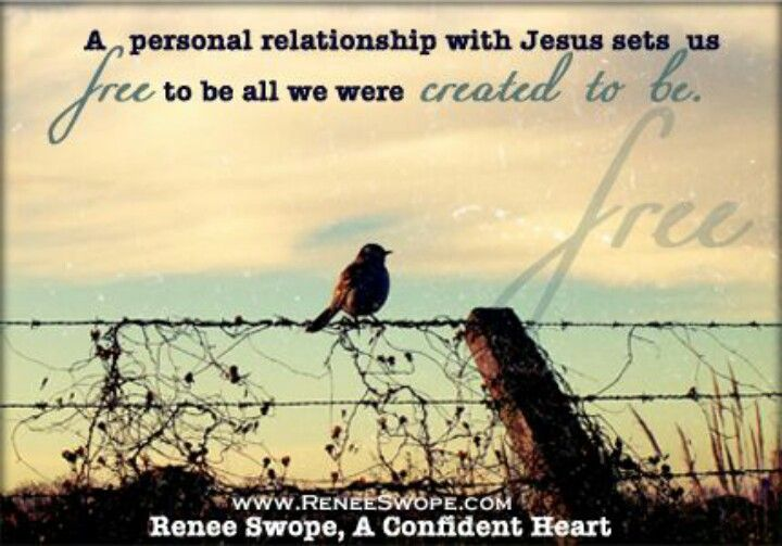 god wants to have a personal relationship with us