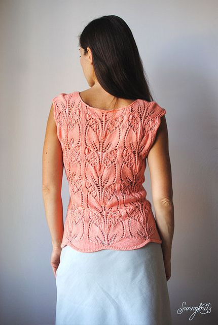 Lily of the valley top by sunnyknits, via Flickr