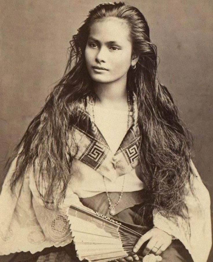 1875 photograph of an island goddess called Sangley. A Filipino woman from the time of Hispanic Colonization. perhaps of mix race (Malay,Chinese,Polynesian) - The most beautiful woman to ever exist?