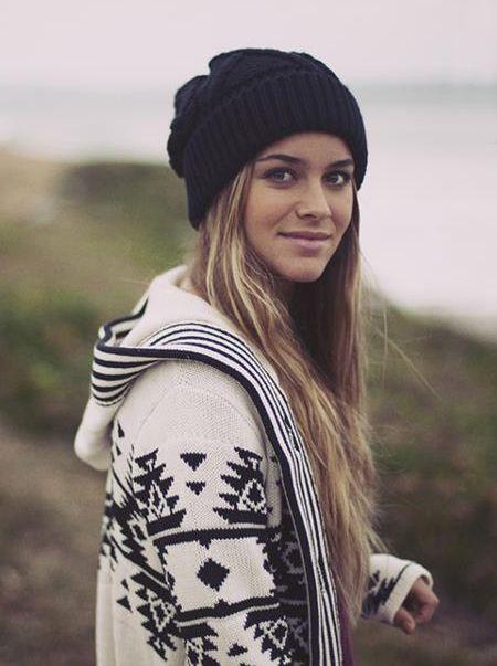 beanie and sweater - sooo comfy