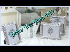Dollar Tree DIY'S|| Bling Vase & Frames DIY 2017 - YouTube