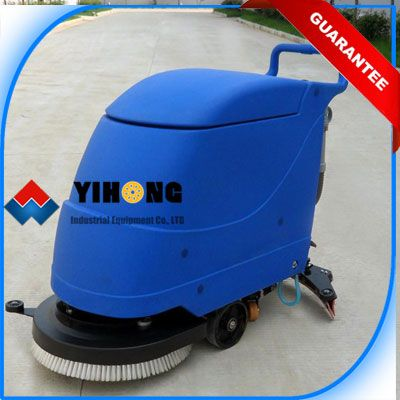 Hand Push Automatic Floor Scrubber/Drier YHFS-580H is perfect choice for large area cleaning such as shopping centers, airports, supermarkets, warehouse and factory floors etc.