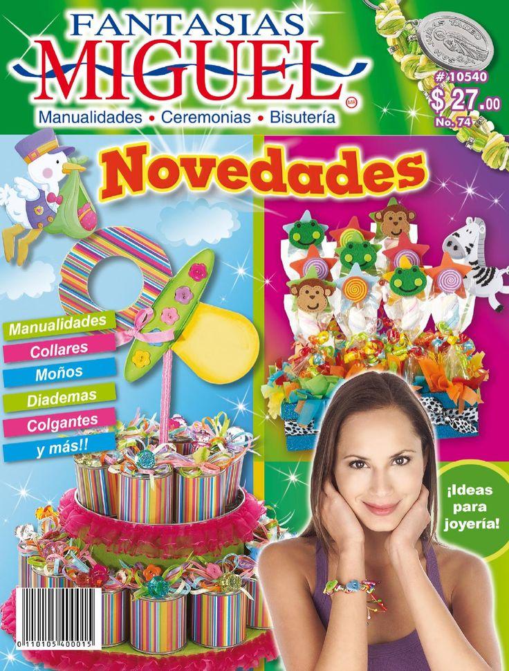 Revista 74  Novedades. Ideas para joyería! Manualidades. collares, moños, diademas, colgantes, y más!