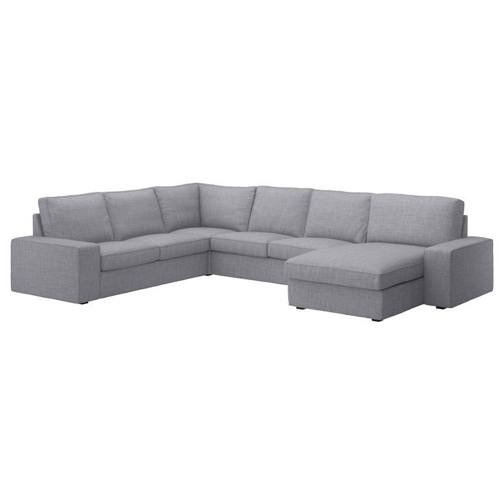 IKEA - KIVIK, Ecksofa 2+2 mit Récamiere, Isunda grau, , Inklusive 10 Jahre Garantie. Mehr darüber in der Garantiebroschüre.