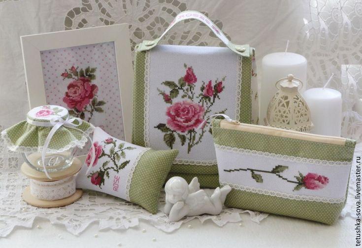 Купить Набор для рукодельницы Roses - бледно-розовый, органайзер, органайзер для…