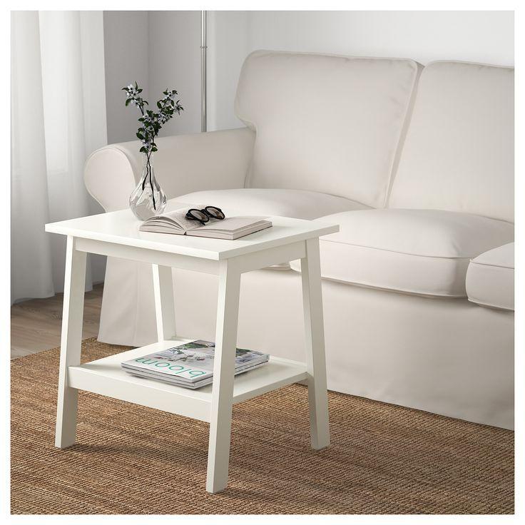 Lunnarp Beistelltisch Weiss Ikea Deutschland In 2020 Beistelltisch Weiss Beistelltisch Wohnzimmertisch