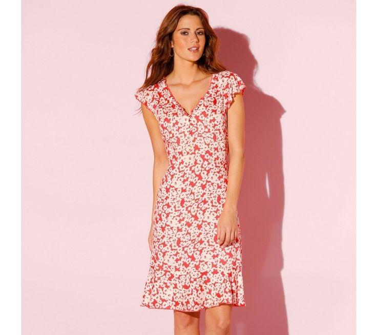 Volánové šaty s potiskem | blancheporte.cz #blancheporte #blancheporteCZ #blancheporte_cz #summer #spring #wear