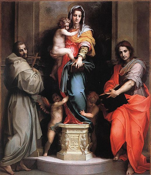 Andrea del Sarto   Madonna delle Arpie (Madonna of the Harpies), 1517 oil on wood.   Galleria degli Uffizi, Florence