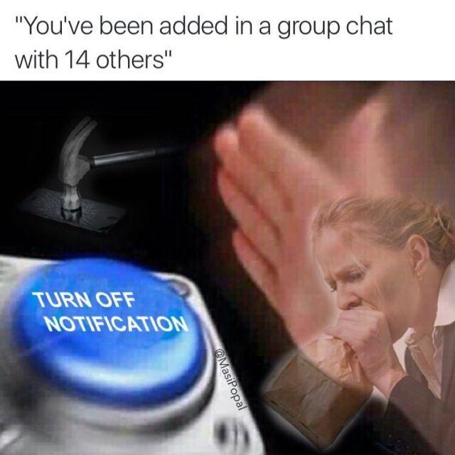 My robotics team group chat