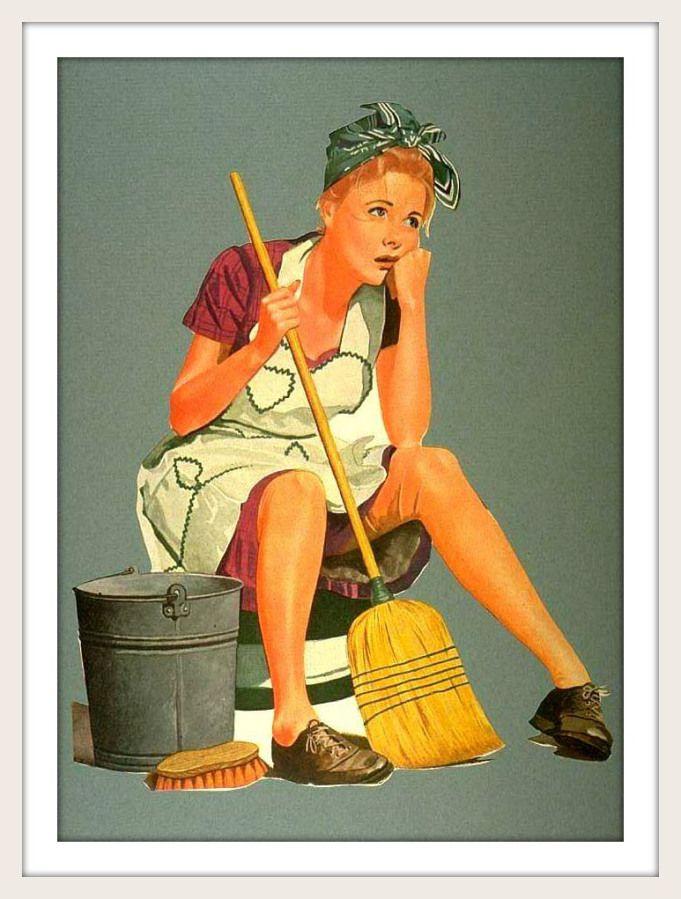 Schoonmaak Moeheid - Cleaning Fatigue #Vintage