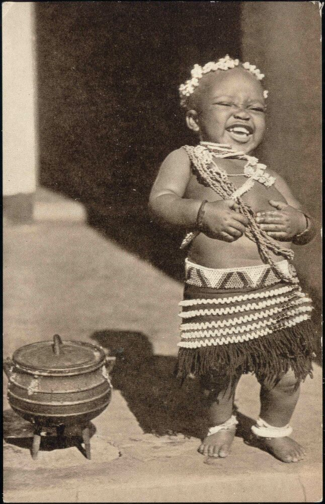 South Africa, Native child 1940's Looks like a Belly Laugh!!!