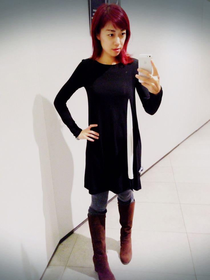 Zara dress, black and white
