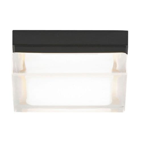 Tech Lighting 700BXS-LED277 Boxie Small 277v LED Ceiling Fixture with Square Pressed Glass Shade