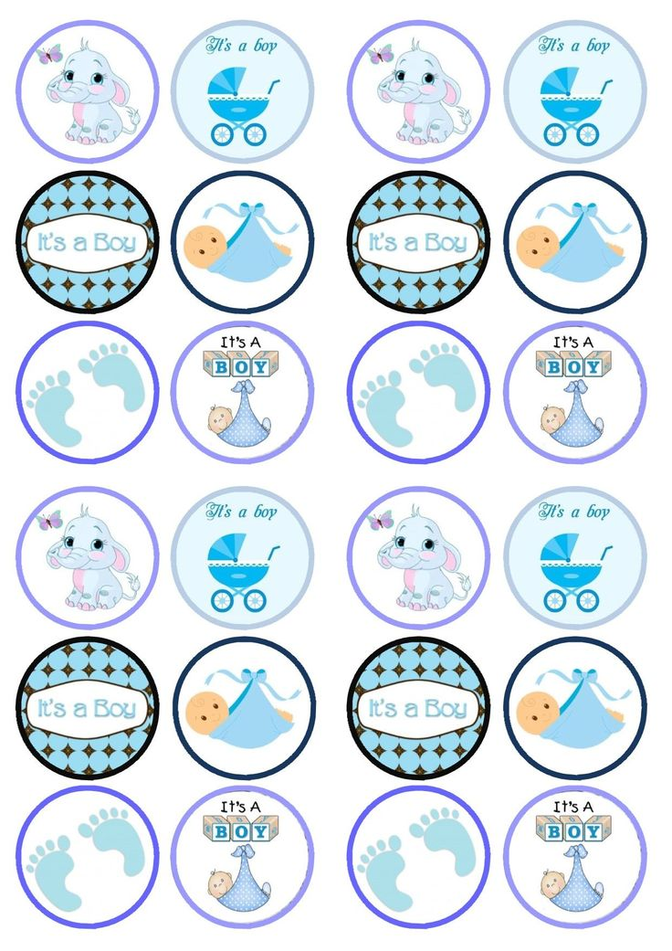 cupcake toppers baby shower - Buscar con Google