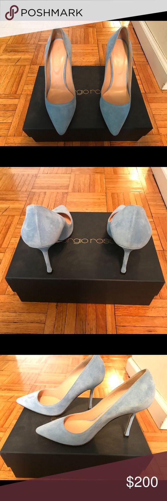 NEW Sergio Rossi Suede Pumps NEW NEVER WORN Sergio Rossi baby blue suede pumps Sergio Rossi Shoes Heels