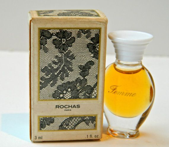 FEMME ROCHAS by Parfums Rochas This is the Original Perfume Created by the great Edmond Roudnitska in 1943 Mini 3 ml Parfum de Toilette Splash Never Used