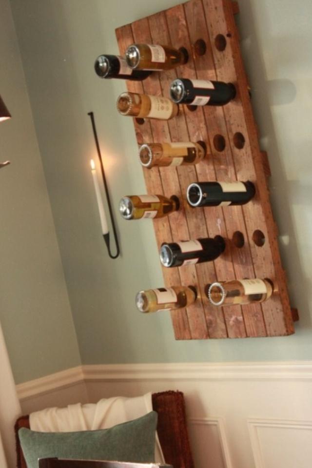 Wine bottle wall decor