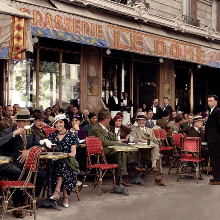 """""""The """"Café du Dôme"""": 108 Montparnasse Blvd- Paris."""