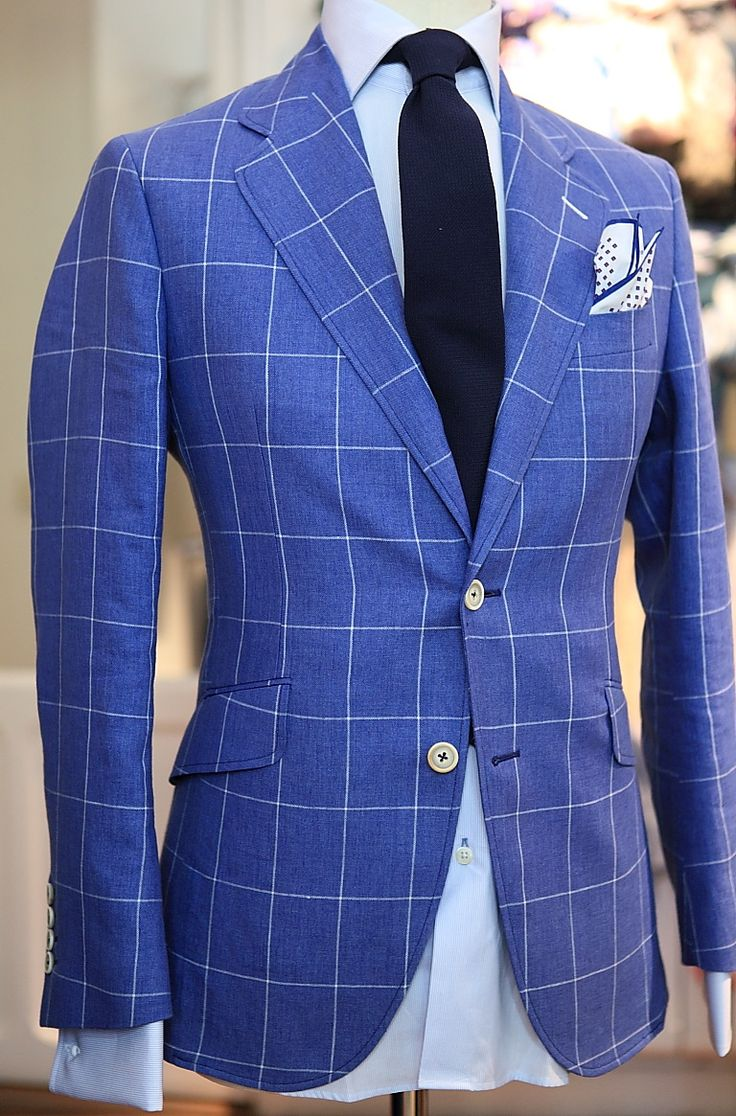 .: Men Clothing, Blue Windowpane, Blue Check, Windowpane Jackets, Fashion Styles, Men Style, Windows Panes, Men Fashion, Windowpane Plaid