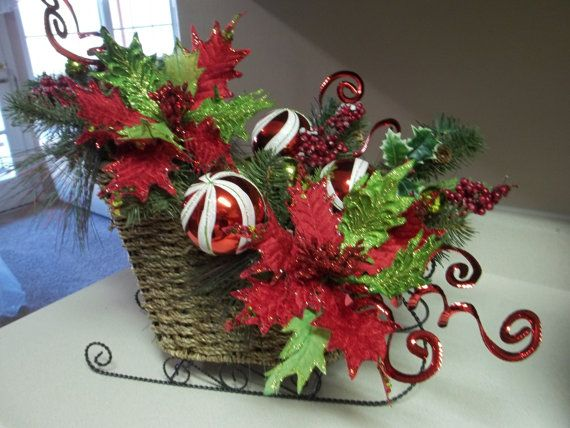 MERRY & BRIGHT  Christmas Holiday Tabletop by DecorClassicFlorals, $129.95