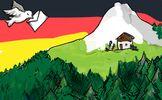 Musste beim Überflug wohl die Sonnenbrille aufsetzen. Sowohl Deutschland als auch die Schweiz geniessen auf ihre Art das sonnige Wetter. (Bild: Katharina Good)