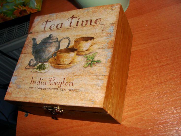 luzikowo-moje hobby: Pudełko  na  herbatę