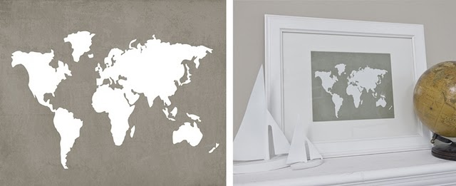 World map - nice and clean.  World Maps, Beautiful Prints