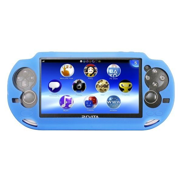 Soft Shell (Vaaleansininen) Sony PlayStation Vita Silikonisuojus