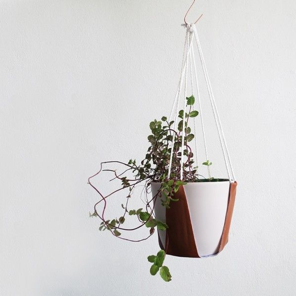 plant hanger - could use with inner bike tubes #hergebruik #upcycle